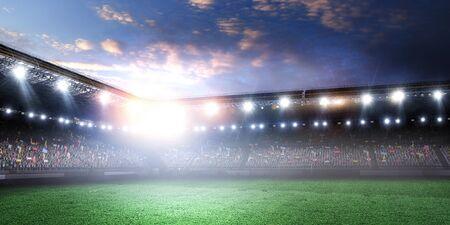 Full night football arena in lights Stockfoto