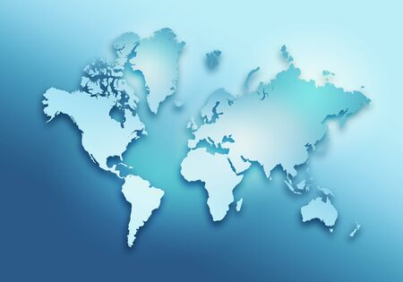 World digital outlined map background Stock Photo - 128971916
