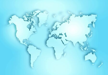 World digital outlined map background Stock Photo - 128972424