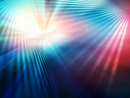 abstract geometric background of planes with divergent bundles of straight colourful rays Stockfoto