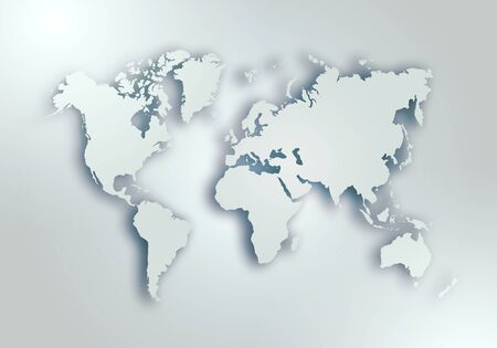 World digital outlined map background Stock Photo - 129002512