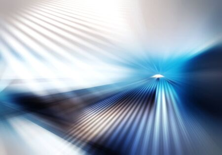 abstract background of light with stripes directed from center outwards in white, blue, grey and brown colour Фото со стока