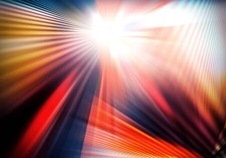 abstract background with light and crossed lines of light spreading in different directions and intercrossing