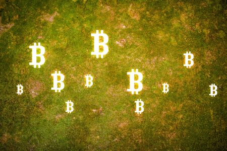 The concept of crypto currency coding Banque d'images - 129002534