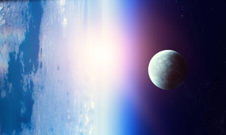 Beauty of galaxy . Mixed media