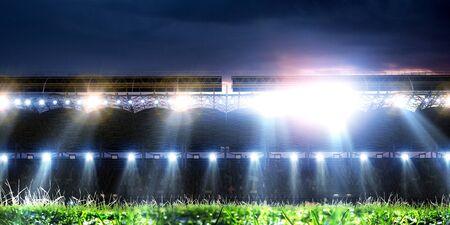 Full night football arena in lights 写真素材