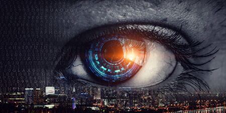 Abstraktes High-Tech-Augenkonzept