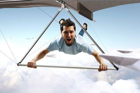Deltaplane extrême. Technique mixte