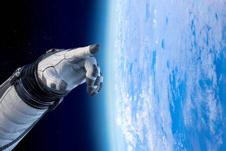 Concept of deep space exploration. Mixed media Stock fotó