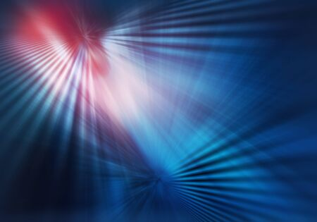 abstract geometric colourful texture of light striped with straight crossing lines of rays and shadows in blue and red colour
