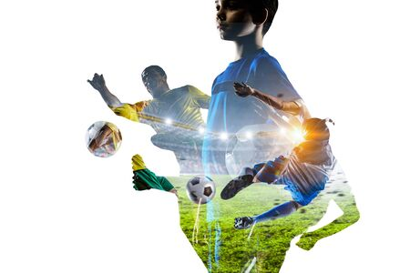 Abstract soccer theme - hottest match moments