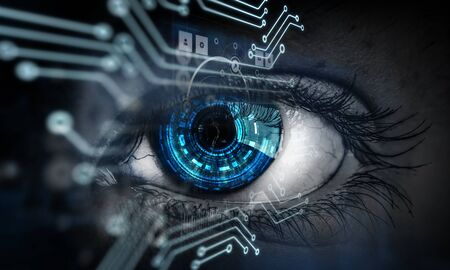 Abstract high tech eye concept