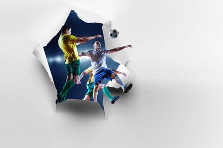 Paper breakthrough hole effect and soccer
