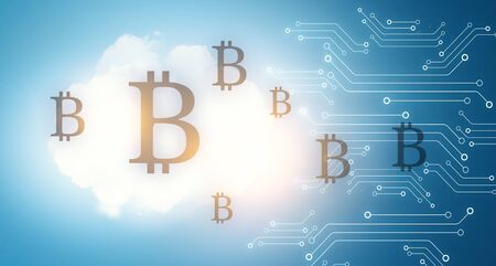 The concept of crypto currency coding Stockfoto