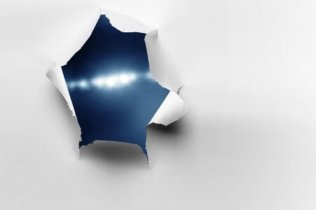 Effect of torn paper hole Stock Photo