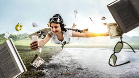 I can fly. Mixed media . Mixed media Imagens