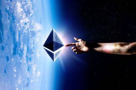 unique universe concept. Mixed media 版權商用圖片