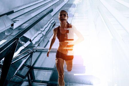 Course de course de sportive. Technique mixte