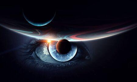 Eye of the world . Mixed media