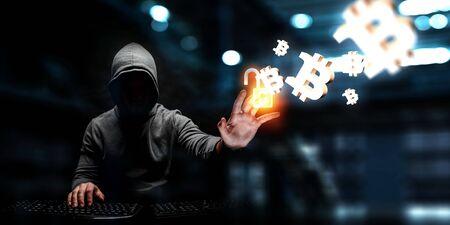 Haking into crypto world . Mixed media