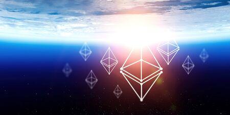 Crypto currency world . Mixed media Zdjęcie Seryjne