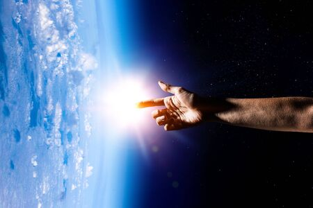 Our unique universe . Mixed media 版權商用圖片