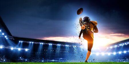 American football player . Mixed media