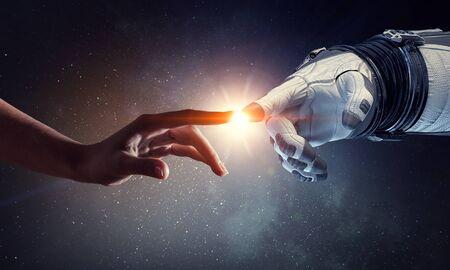 Concept d'exploration de l'espace lointain. Technique mixte