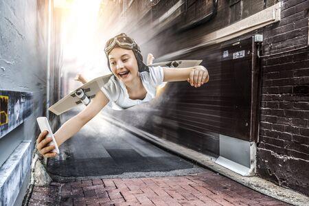I can fly. |Mixed media . Mixed media Imagens