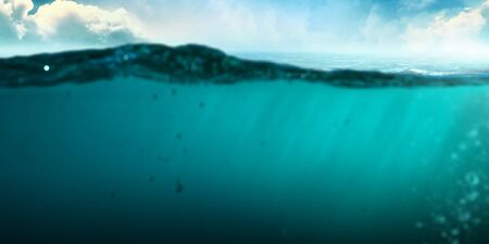 Clear underwater background . Mixed media Reklamní fotografie - 135624619