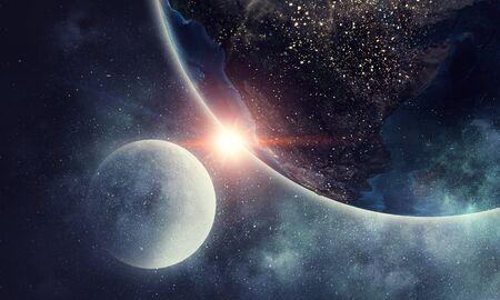 Erforschung des Weltraums. Gemischte Medien