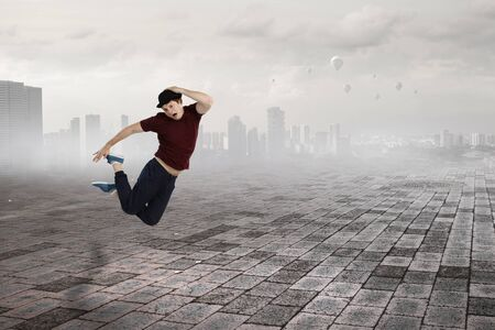 Dance is his world . Mixed media Stok Fotoğraf