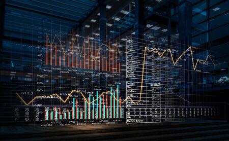 Mediatechnologieën voor bedrijven. Gemengde media Stockfoto