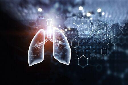 Moderne Technologien für die Medizin. Gemischte Medien Standard-Bild