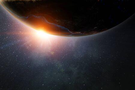 Die Erde aus dem Weltraum zeigt all ihre Schönheit.