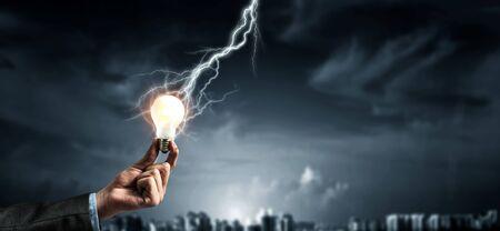 Concept of new ideas and innovation Reklamní fotografie