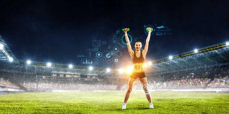 Technologies for sports. Mixed media Zdjęcie Seryjne