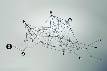 Social networking communication . Mixed media Reklamní fotografie