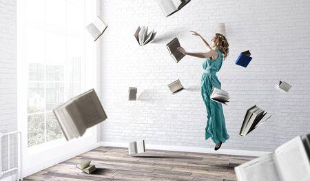 When reading takes your away. Mixed media Reklamní fotografie