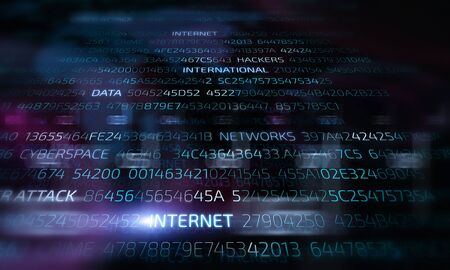 Background image presenting cyber security and attack concept