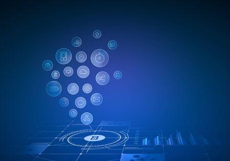 Innovative Technologien für die Industrie. Gemischte Medien