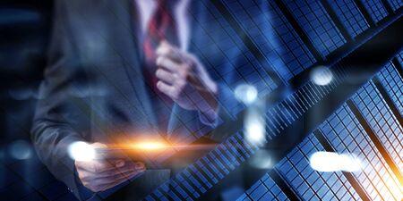 Concept d'entreprise et d'innovation. Technique mixte Banque d'images