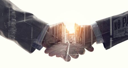 Partnership concept. Image of handshake 版權商用圖片