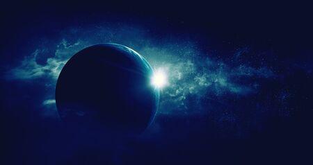 Bild des Weltraums. . Gemischte Medien