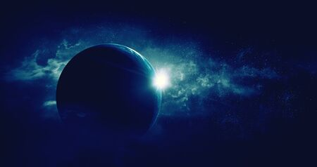 Image de l'espace extra-atmosphérique. . Technique mixte
