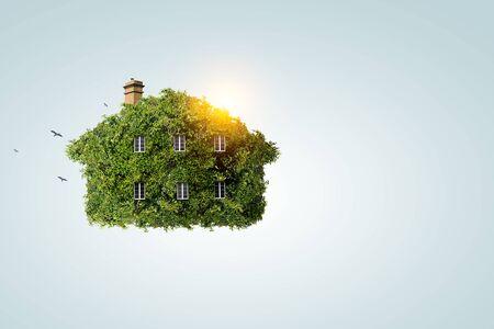Green house as symbol of ecology Foto de archivo