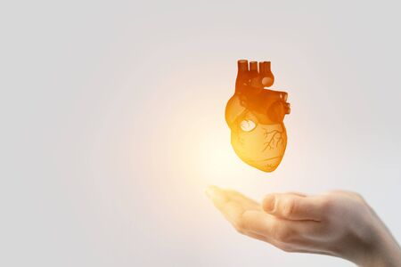 Innovative medicine concept. Heart symbol