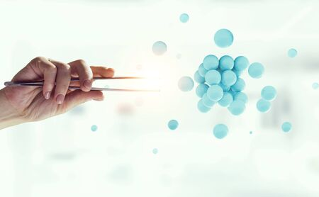Science concept with sphere model Stockfoto