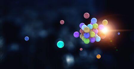 Science concept with sphere model Standard-Bild