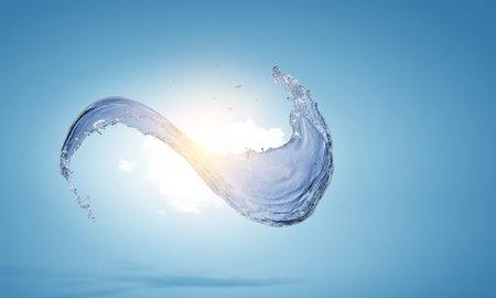 Water splash image . Mixed media